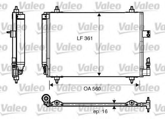 Радиатор кондиционера VALEO 817824