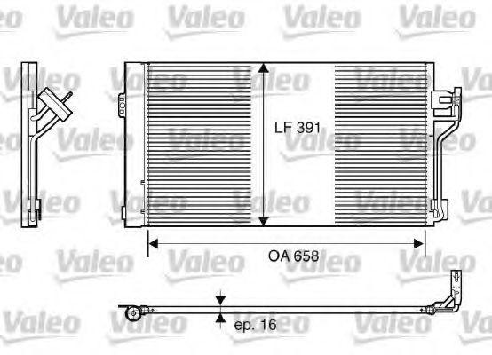 Радиатор кондиционера VALEO 817842