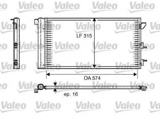 Радиатор кондиционера VALEO 818005
