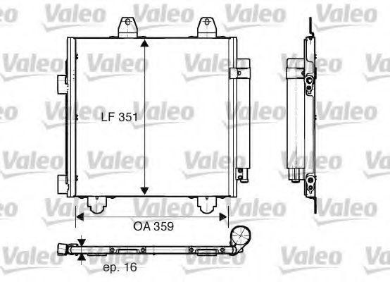 Радиатор кондиционера VALEO 818013