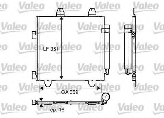 Радиатор кондиционера VALEO 818014