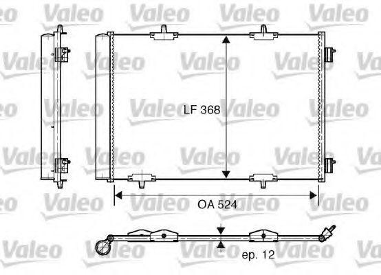 Радиатор кондиционера VALEO 818015