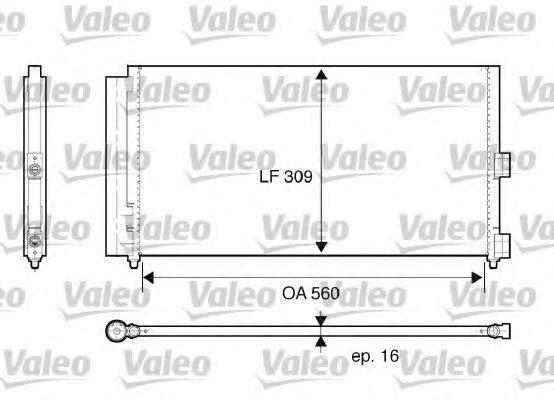 Конденсор кондиционера VALEO 818021