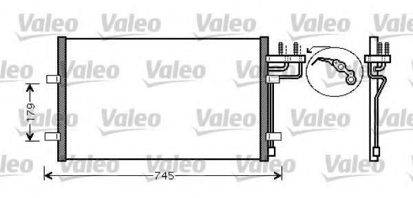 Радиатор кондиционера VALEO 818046