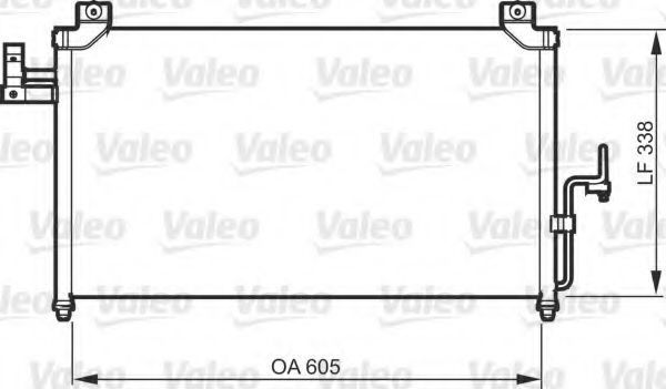 Конденсатор, кондиционер VALEO 818092