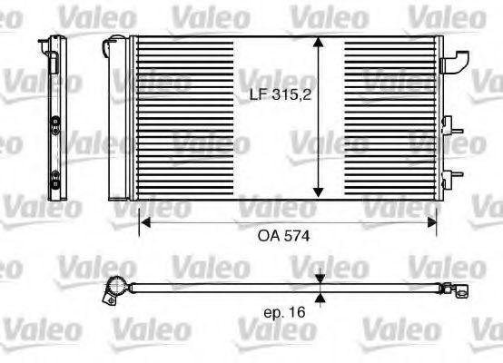 Радиатор кондиционера VALEO 818162