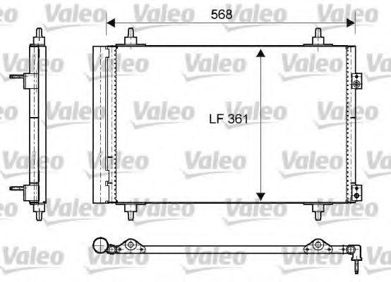 Радиатор кондиционера VALEO 818171
