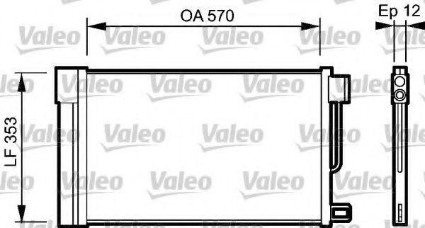 Конденсатор, кондиционер VALEO 818193
