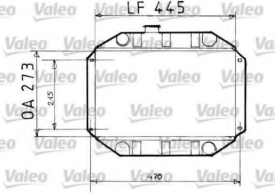 Радиатор, охлаждение двигателя VALEO 819151