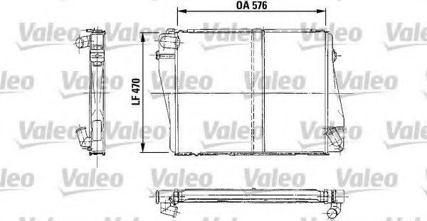 Радиатор, охлаждение двигателя VALEO 819212