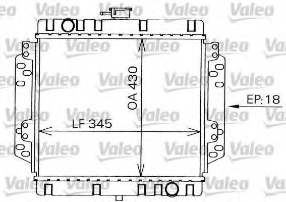 Радиатор, охлаждение двигателя VALEO 819240