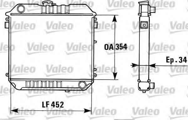 Радиатор, охлаждение двигателя VALEO 819313