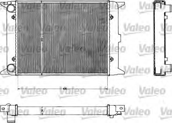 Радиатор, охлаждение двигателя VALEO 883419