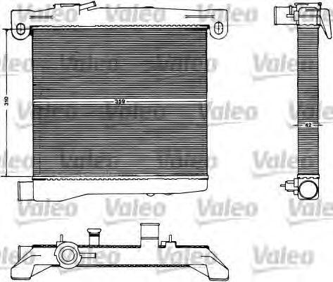 Радиатор, охлаждение двигателя VALEO 883428