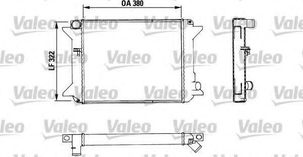 Радиатор, охлаждение двигателя VALEO 883464