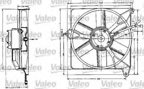 Электродвигатель, вентилятор радиатора VALEO 883554