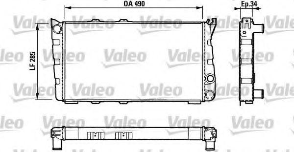Радиатор, охлаждение двигателя VALEO 883734