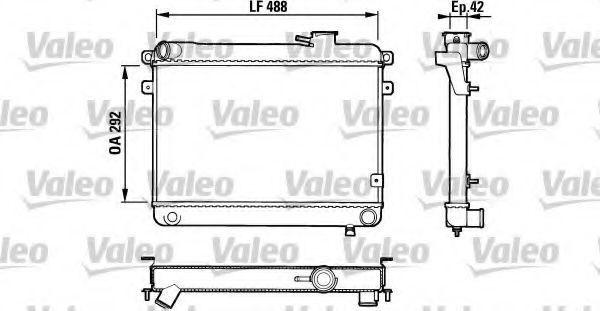 Радиатор, охлаждение двигателя VALEO 883762