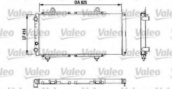 Радиатор, охлаждение двигателя VALEO PHC 883765