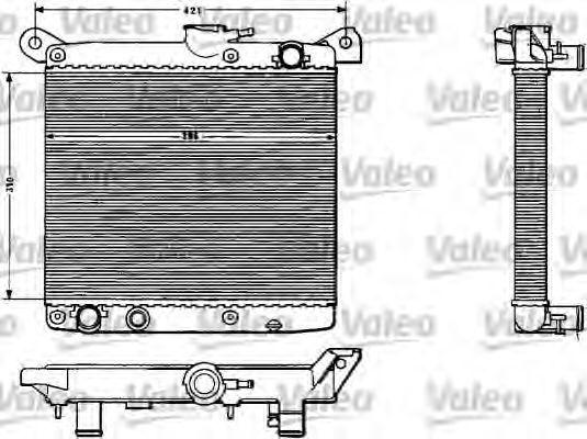 Радиатор, охлаждение двигателя VALEO 883783