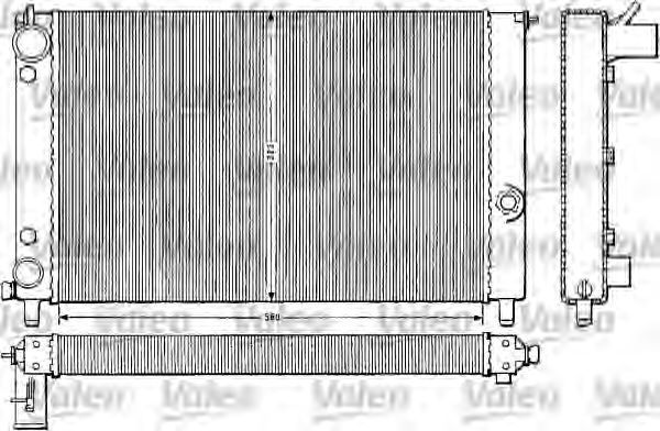 Радиатор, охлаждение двигателя VALEO 883784