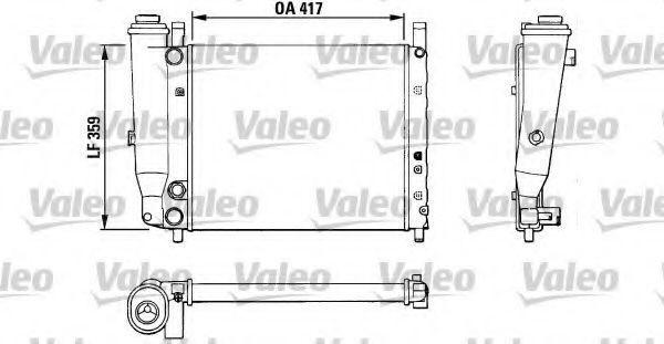 Радиатор, охлаждение двигателя VALEO 883806