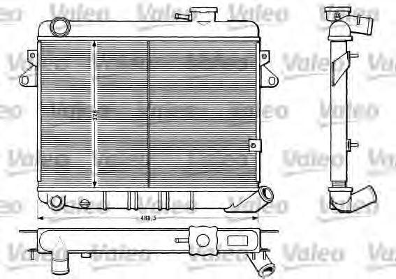 Радиатор, охлаждение двигателя VALEO 883808