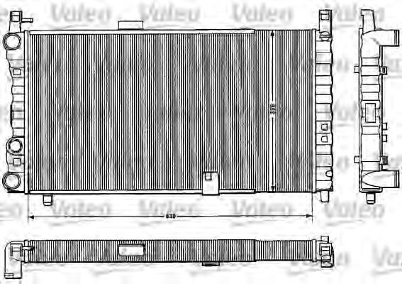 Радиатор, охлаждение двигателя VALEO 883822