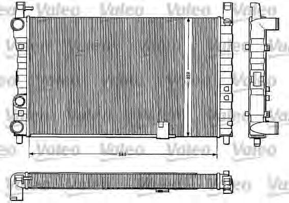 Радиатор, охлаждение двигателя VALEO 883823
