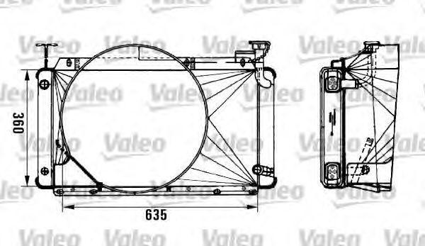 Радиатор, охлаждение двигателя VALEO 962495