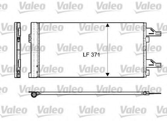 Радиатор кондиционера VALEO 814085