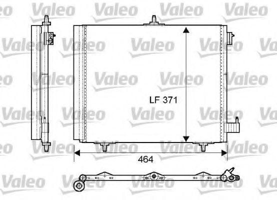 Радиатор кондиционера VALEO 814095