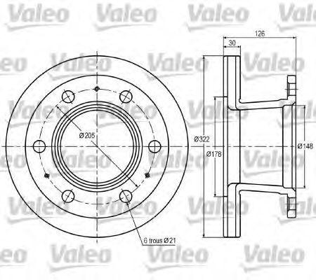 Тормозной диск VALEO 187002