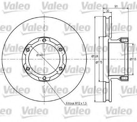 Тормозной диск VALEO 187017