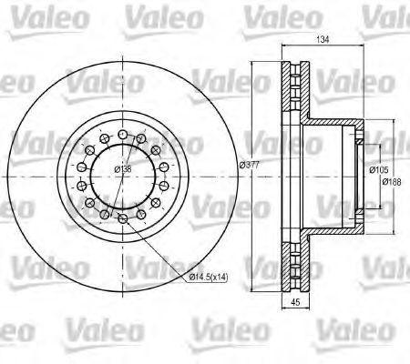 Тормозной диск VALEO 187048