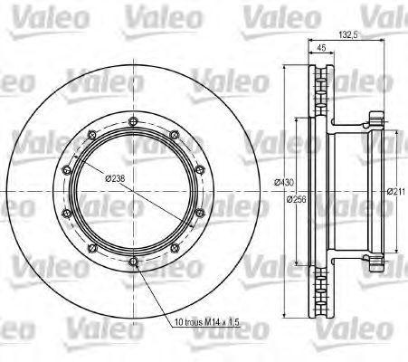 Тормозной диск VALEO 187051