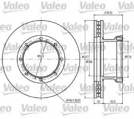 Тормозной диск VALEO 187084