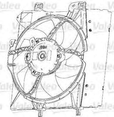 Электродвигатель, вентилятор радиатора VALEO 696238