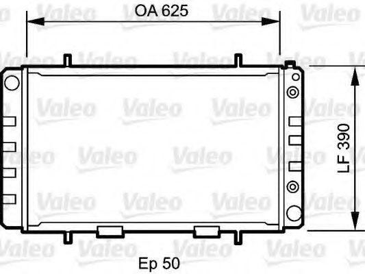 Радиатор, охлаждение двигателя VALEO 735052