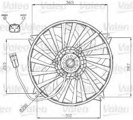 Вентилятор, охлаждение двигателя VALEO 696177