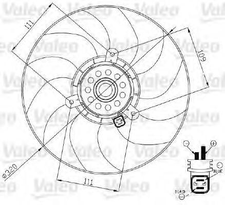 Вентилятор, охлаждение двигателя VALEO 696188