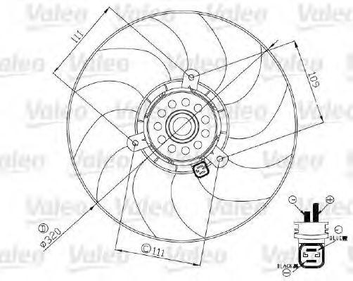 Вентилятор, охлаждение двигателя VALEO 696190