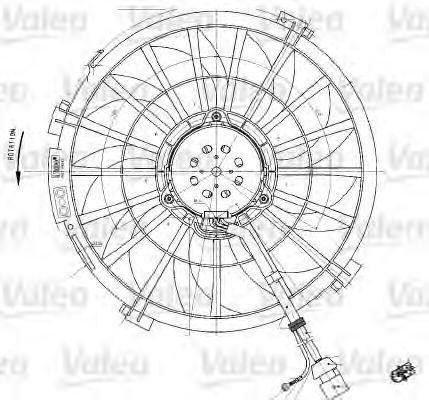 Вентилятор охлаждения двигателя VALEO 698542