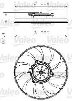 Вентилятор охлаждения двигателя VALEO 696001
