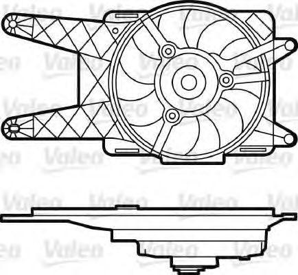Электродвигатель вентилятора радиатора VALEO 698562