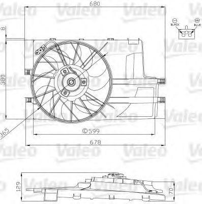 Электродвигатель, вентилятор радиатора VALEO 696129