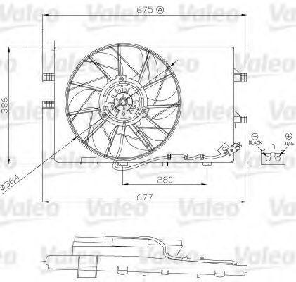 Электродвигатель, вентилятор радиатора VALEO 696130