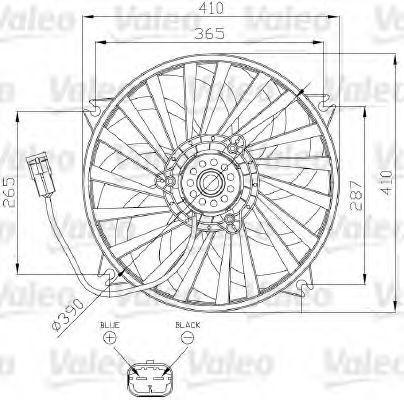 Вентилятор, охлаждение двигателя VALEO 696139