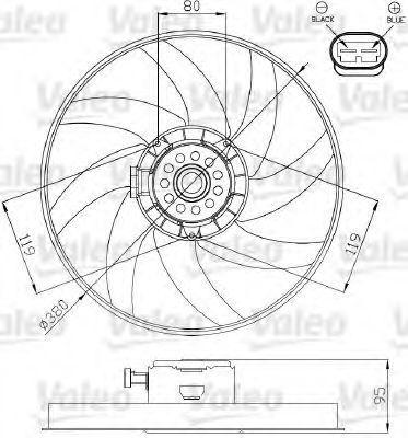 Вентилятор, охлаждение двигателя VALEO 696285