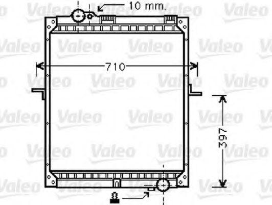 Радиатор, охлаждение двигателя VALEO 733420